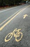 Fahrradspur Stockfotos