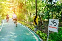 Fahrradspuren Lizenzfreies Stockfoto