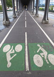 Fahrradstraße Stockbild