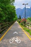 Fahrradstraße in Italien Lizenzfreie Stockfotografie
