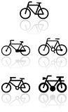 Fahrradsymbolset. Stockfoto
