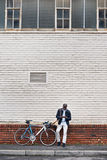 Fahrradtelefonmann Stockbild