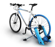 Fahrradtrainer Stockbild
