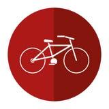 Fahrradtransport-Ökologieschattenkreis stock abbildung