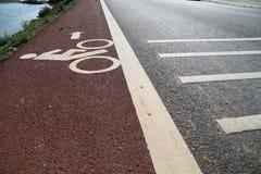 FahrradVerkehrsschild Lizenzfreies Stockbild