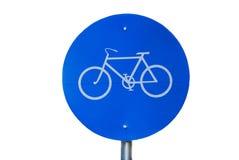 FahrradVerkehrsschild stockbild