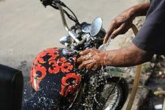 Fahrradwäsche Stockfoto