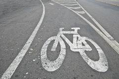 Fahrradweg Stockfoto