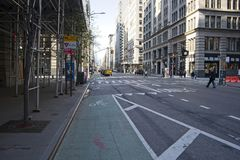 Fahrradweg auf Fifth Avenue in NYC lizenzfreie stockbilder