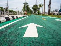 Fahrradweg in der Stadt Lizenzfreies Stockfoto