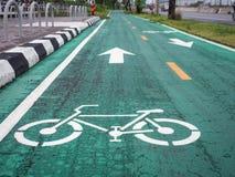 Fahrradweg in der Stadt Stockfotos