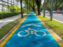 Fahrradweg in der Stadt Lizenzfreie Stockbilder