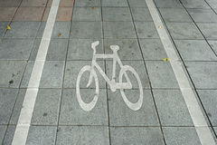 Fahrradweg in einer Stadt Lizenzfreie Stockbilder