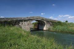 Fahrradweg entlang dem Naviglio von Bereguardo Italien Lizenzfreie Stockfotos