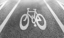 Fahrradweg Signage auf Straße Lizenzfreie Stockbilder