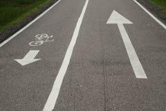Fahrradweg und Gehweg Stockfotos