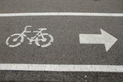 Fahrradweg und Gehweg lizenzfreies stockfoto