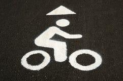 Fahrradweg unterzeichnen herein Schwarzweiss-Sepia-Ton Lizenzfreies Stockfoto