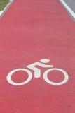 Fahrradweg-Weißzeichen Lizenzfreies Stockbild