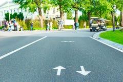 Fahrradwege im Park Lizenzfreie Stockbilder