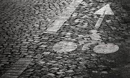 Fahrradwegmarkierung Lizenzfreies Stockbild