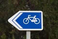 Fahrradwegsignal Stockfotografie