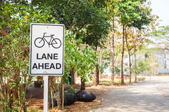 Fahrradwegzeichen Lizenzfreies Stockfoto