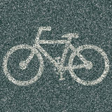 Fahrradzeichen Lizenzfreies Stockbild