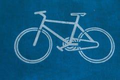 Fahrradzeichen lizenzfreie stockfotografie