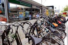 Fahrräder in Rotterdam Stockfotografie