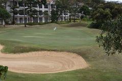 Fahrrinnen und Bluewater-Golfplatz Stockfoto