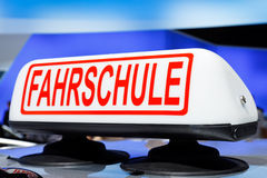 Fahrschule (Driving School) Sign Stock Photo