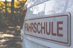 Fahrschule Signboard Royalty Free Stock Photography