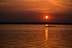 Fahrt auf den Sonnenuntergang Stockbilder