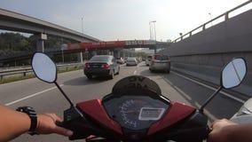 Fahrt in der Geschwindigkeit stock video