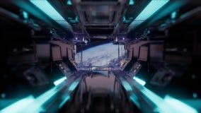 Fahrt in einem Raumschifftunnel stock footage