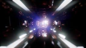 Fahrt in einem Raumschifftunnel stock video