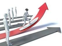 Fahrt zum Erfolg Erfolg in der Karriere und im Geschäft Lizenzfreie Stockfotos