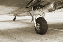 Fahrwerk der Weinlese-DC3 Lizenzfreies Stockfoto