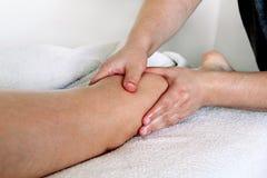 Fahrwerkbein-Massage Stockfotografie
