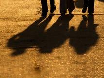 Fahrwerkbein-Schattenbild lizenzfreies stockfoto