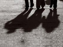 Fahrwerkbein-Schattenbild Lizenzfreie Stockfotografie