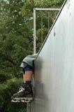 Fahrwerkbeine eines Roller-skater Stockfotografie