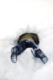 Fahrwerkbeine im Schnee Lizenzfreie Stockfotos