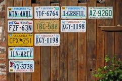 Fahrzeug-amtliche Kennzeichen Stockfotos