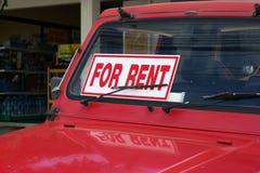Fahrzeug für Miete Stockbild