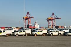 Fahrzeug-Import - Fremantle - Australien Stockfoto