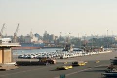 Fahrzeug-Import - Fremantle - Australien Stockfotos