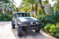 Fahrzeug in Jurassic Park Stockfotografie