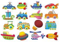 Fahrzeug-Karikatur-Entwurfs-Vektor-Satz lizenzfreie abbildung